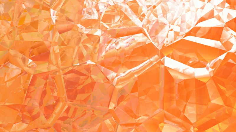 Abstract Orange and White Crystal Background Image