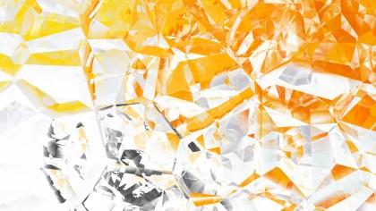 Orange and White Crystal Background