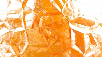 Abstract Orange and White Crystal Background