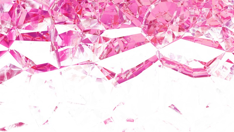 Pink and White Abstract Crystal Background Image