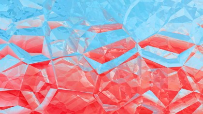 Red and Blue Abstract Crystal Background