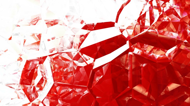 Red and White Abstract Crystal Background Image