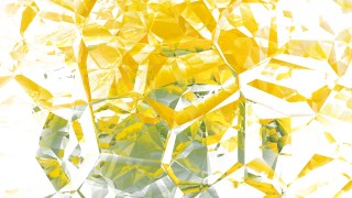 Yellow and White Abstract Crystal Background