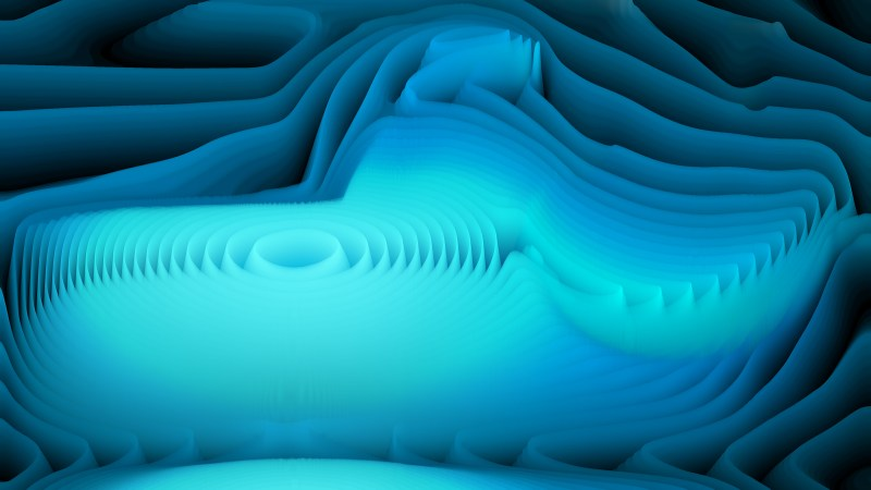 Abstract Black and Blue Curvature Ripple Background Image