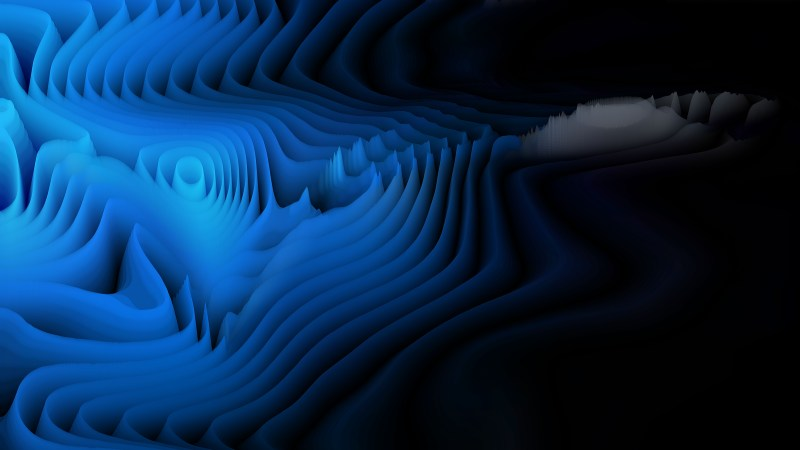 Black and Blue 3d Curved Lines Ripple background