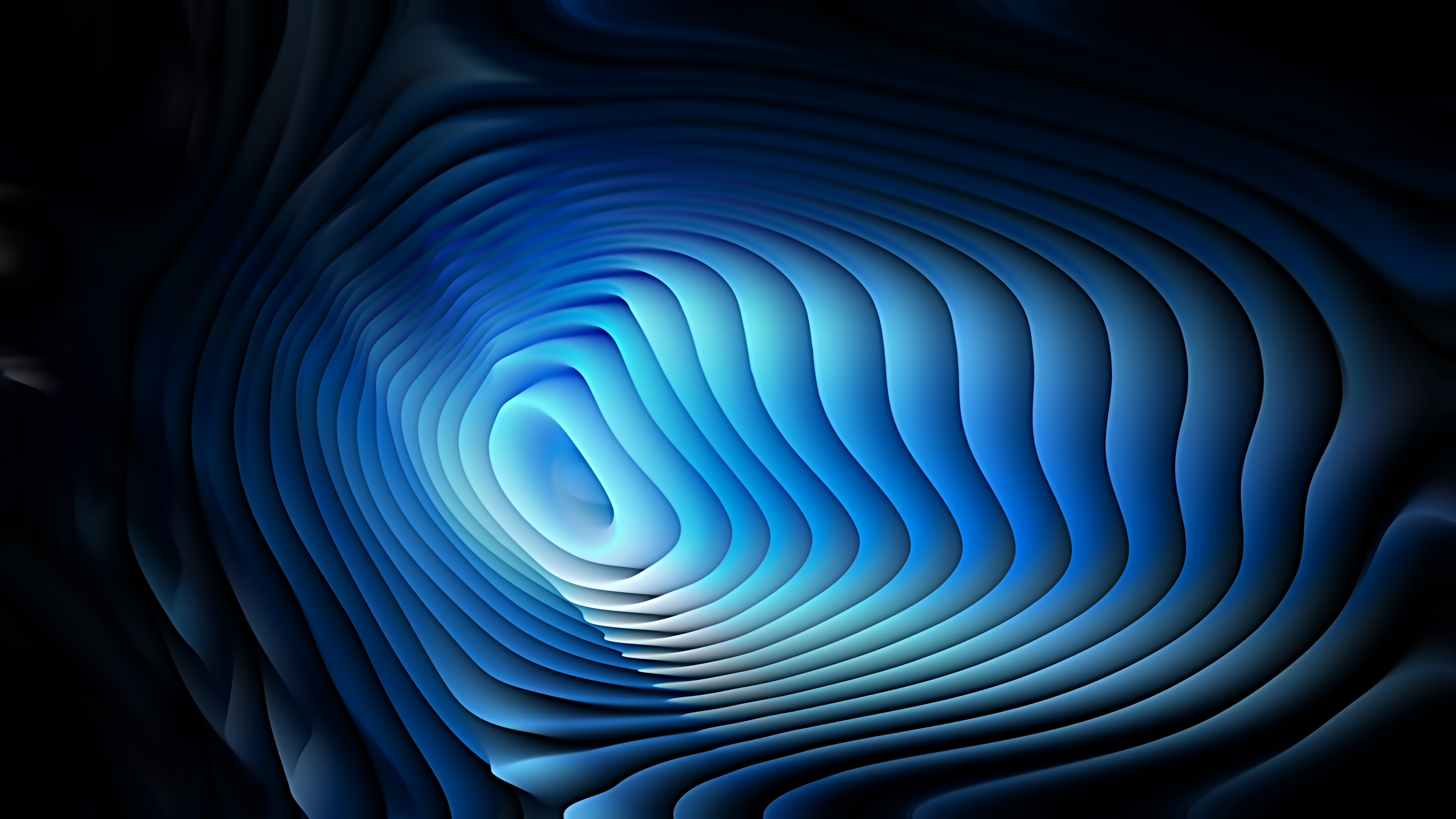 Black and Blue 3d Curved Lines Texture