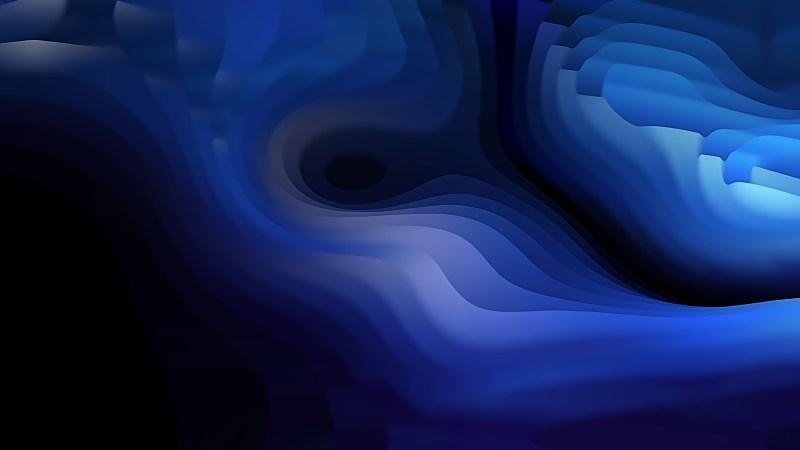 Abstract 3d Black and Blue Curved Lines Ripple texture