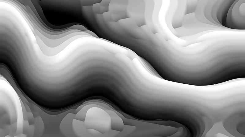 Black and Grey 3d Curved Lines Ripple background