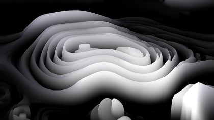 Black and White Curvature Ripple Background