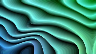 Abstract 3d Blue and Green Curved Lines Ripple background