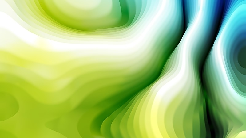 Blue and Green Curved Lines Ripple Texture