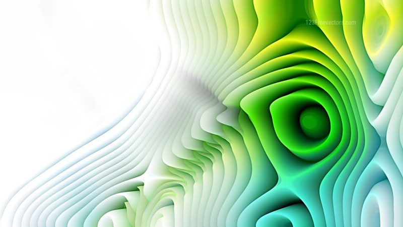 Blue and Green Curved Lines Ripple Background