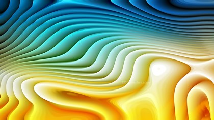 Blue and Orange Curvature Ripple Background