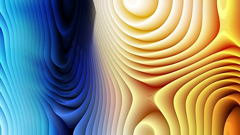 Blue and Orange Curved Lines Ripple Texture