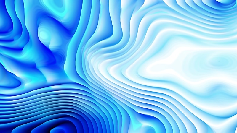 Abstract Blue and White Curved Background Texture