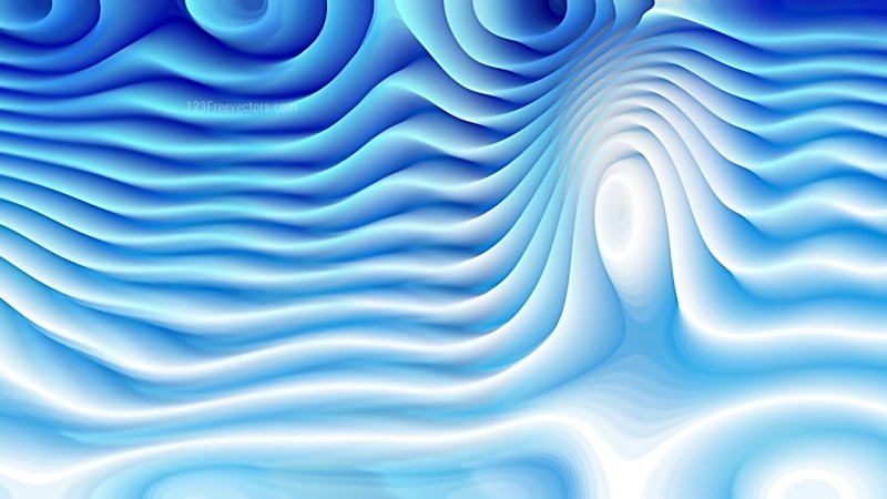 Abstract Blue and White Curvature Ripple Texture