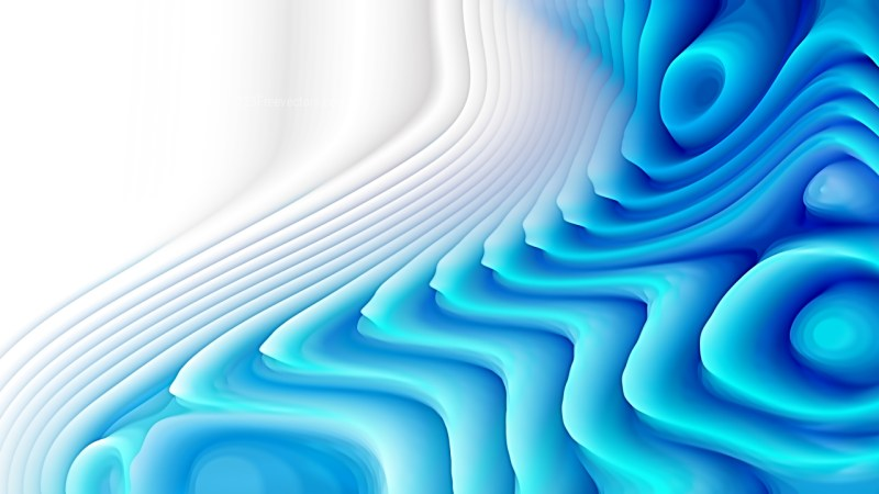 Abstract 3d Blue and White Curved Lines Ripple texture