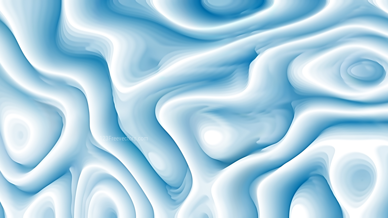 Abstract 3d Blue and White Curved Lines Background