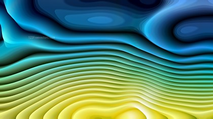 Blue and Yellow 3d Curved Lines Ripple texture