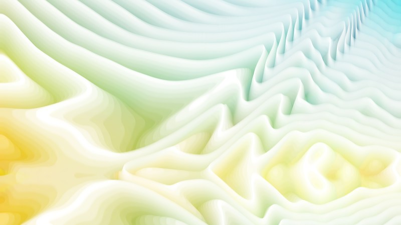 Abstract 3d Blue and Yellow Curved Lines Texture Background
