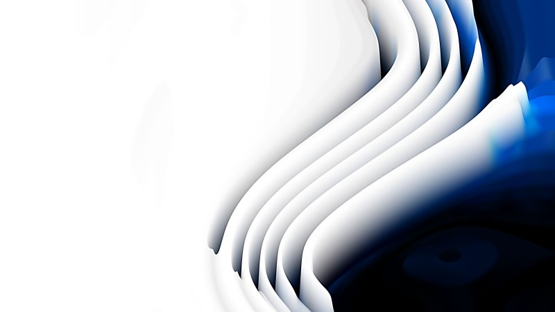 Blue Black and White 3d Curved Lines Texture