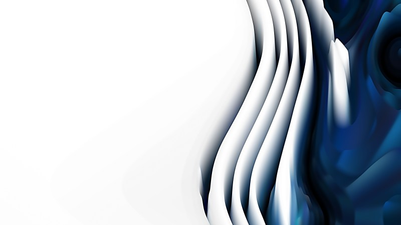 Blue Black and White 3d Curved Lines Background