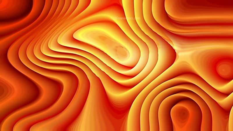 Bright Orange 3d Curved Lines Texture