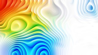 Colorful 3d Abstract Curved Lines Background