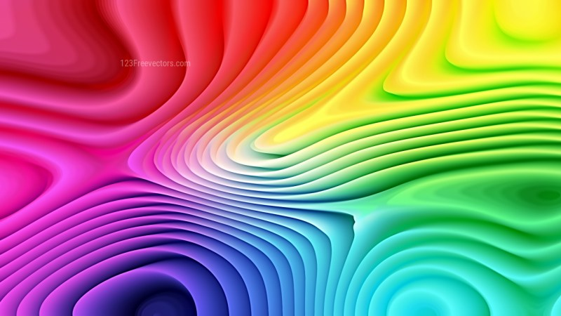Colorful 3d Curved Lines Texture Background