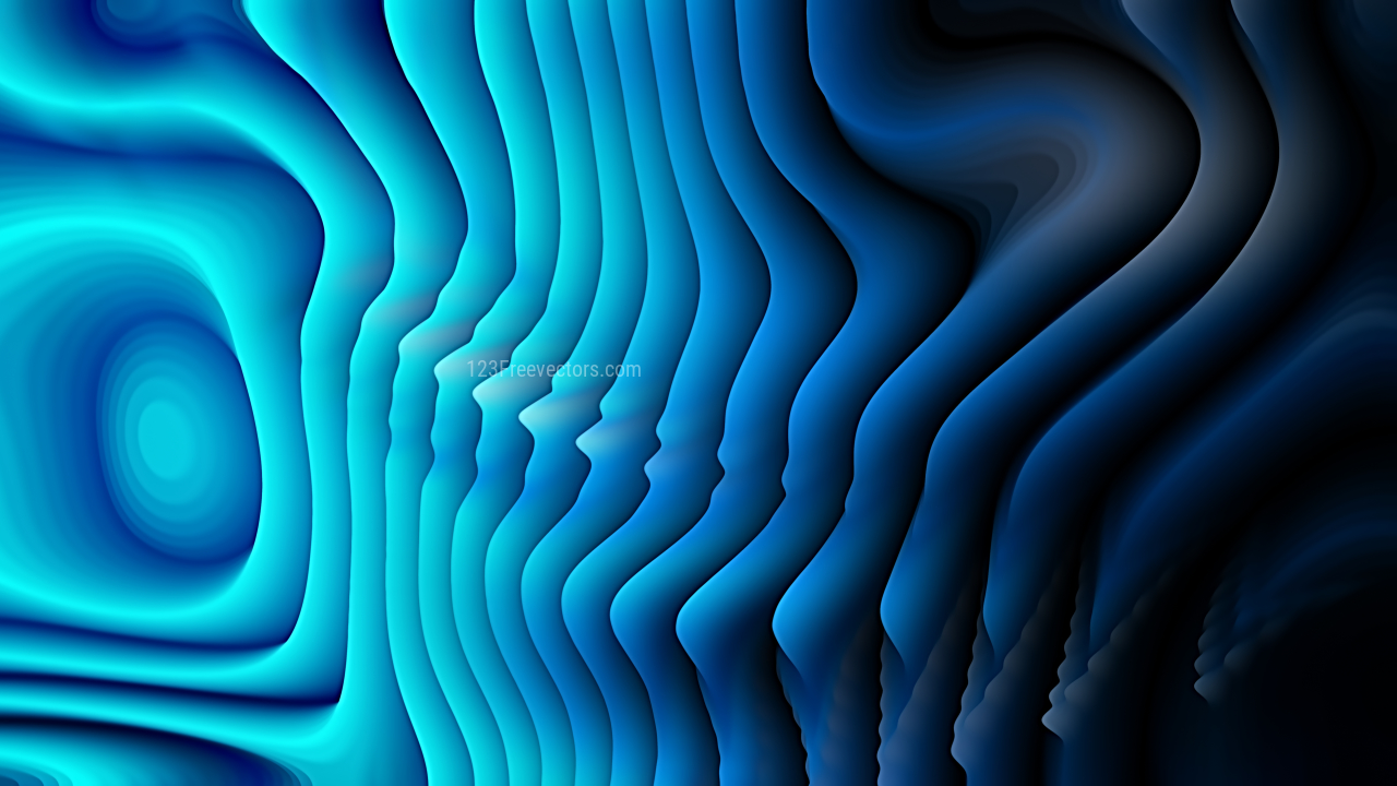 Abstract Cool Blue Curved Lines Ripple Texture Background