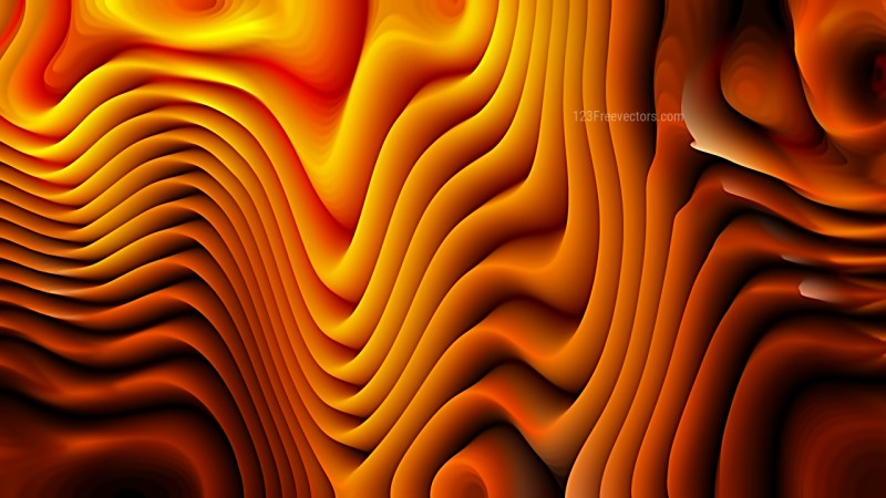 Abstract Cool Orange Curve Texture