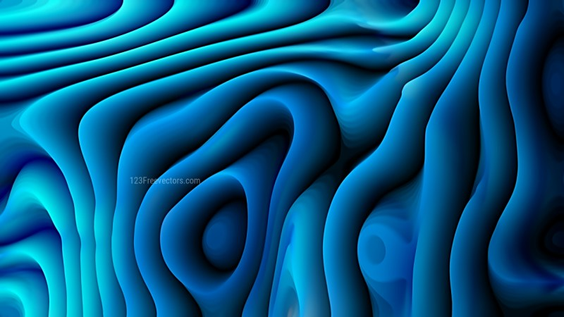 Abstract 3d Dark Blue Curved Lines Background