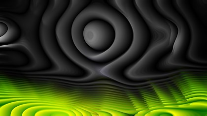 Green and Black Curved Lines Ripple Background