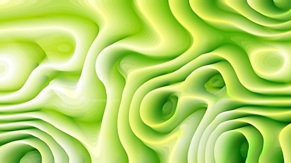 Abstract 3d Green and White Curved Lines Texture Background