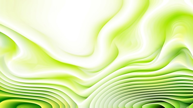 Green and White 3d Curved Lines Texture