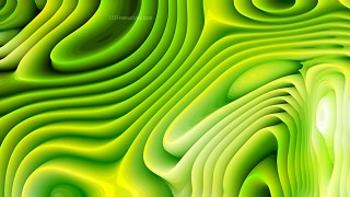 Green and Yellow Curved Lines Ripple Texture