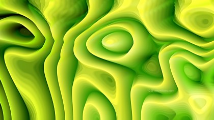 Abstract 3d Green and Yellow Curved Lines Background
