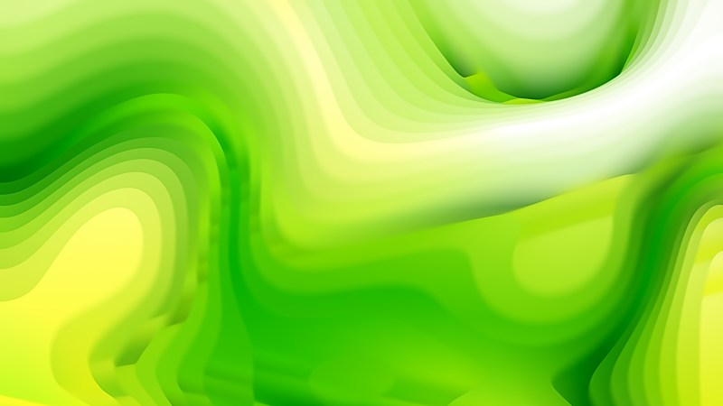 Abstract Green and Yellow Curvature Ripple Background