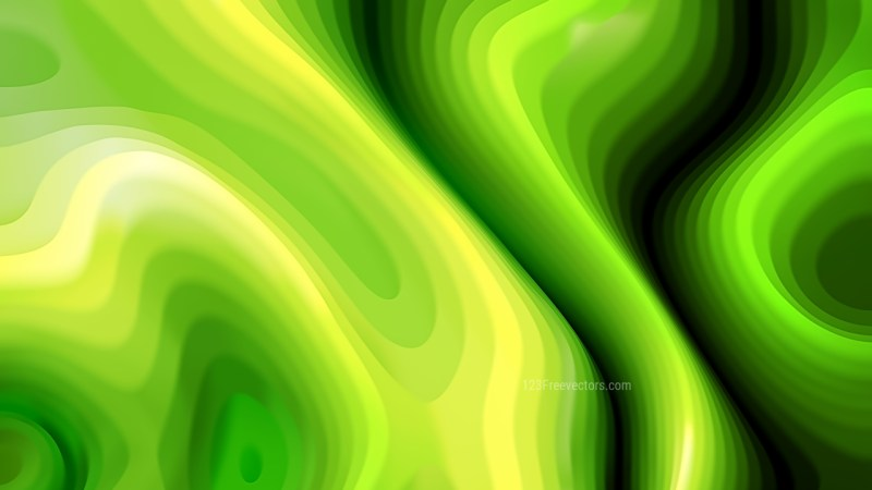 Green and Yellow 3d Curved Lines Texture