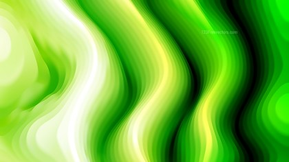 Abstract Green Black and White Curvature Ripple Texture
