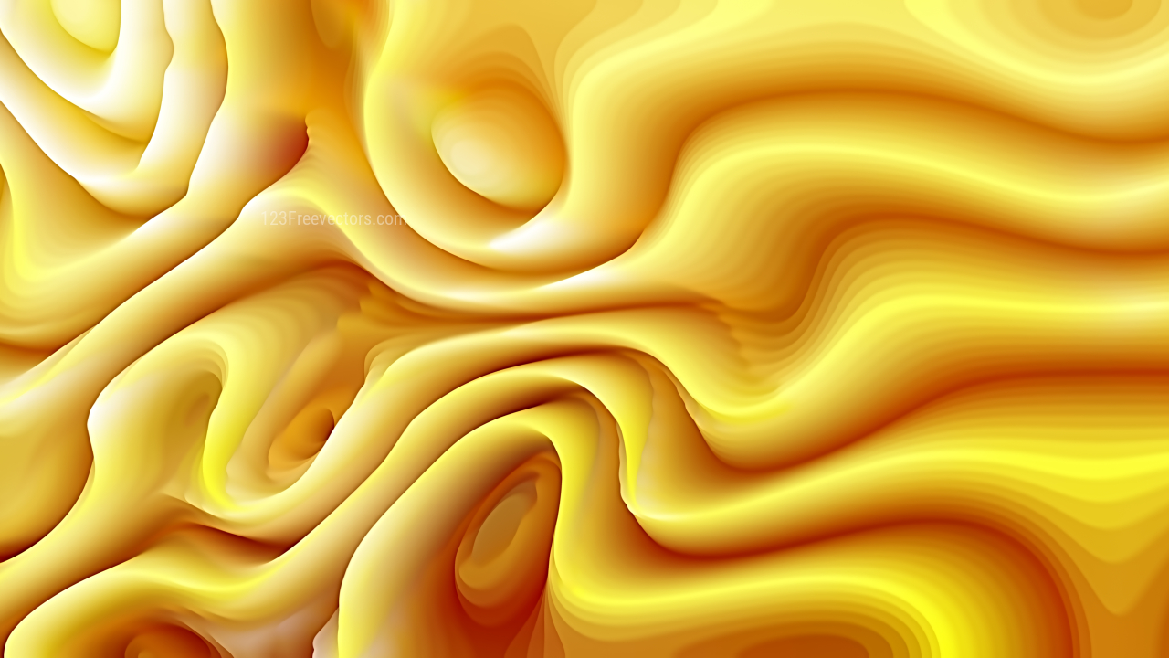 Abstract 3d Orange Curved Lines Background