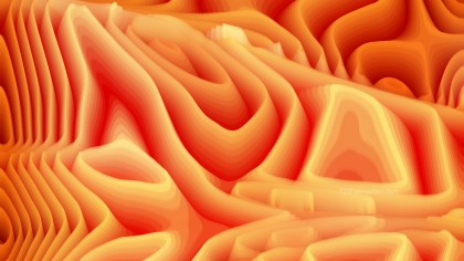 Orange 3d Curved Lines Texture Background