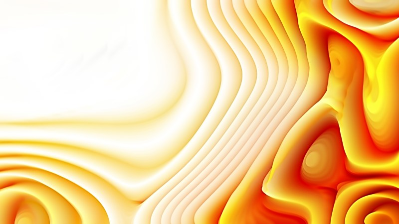 Orange and White 3d Abstract Curved Lines Background