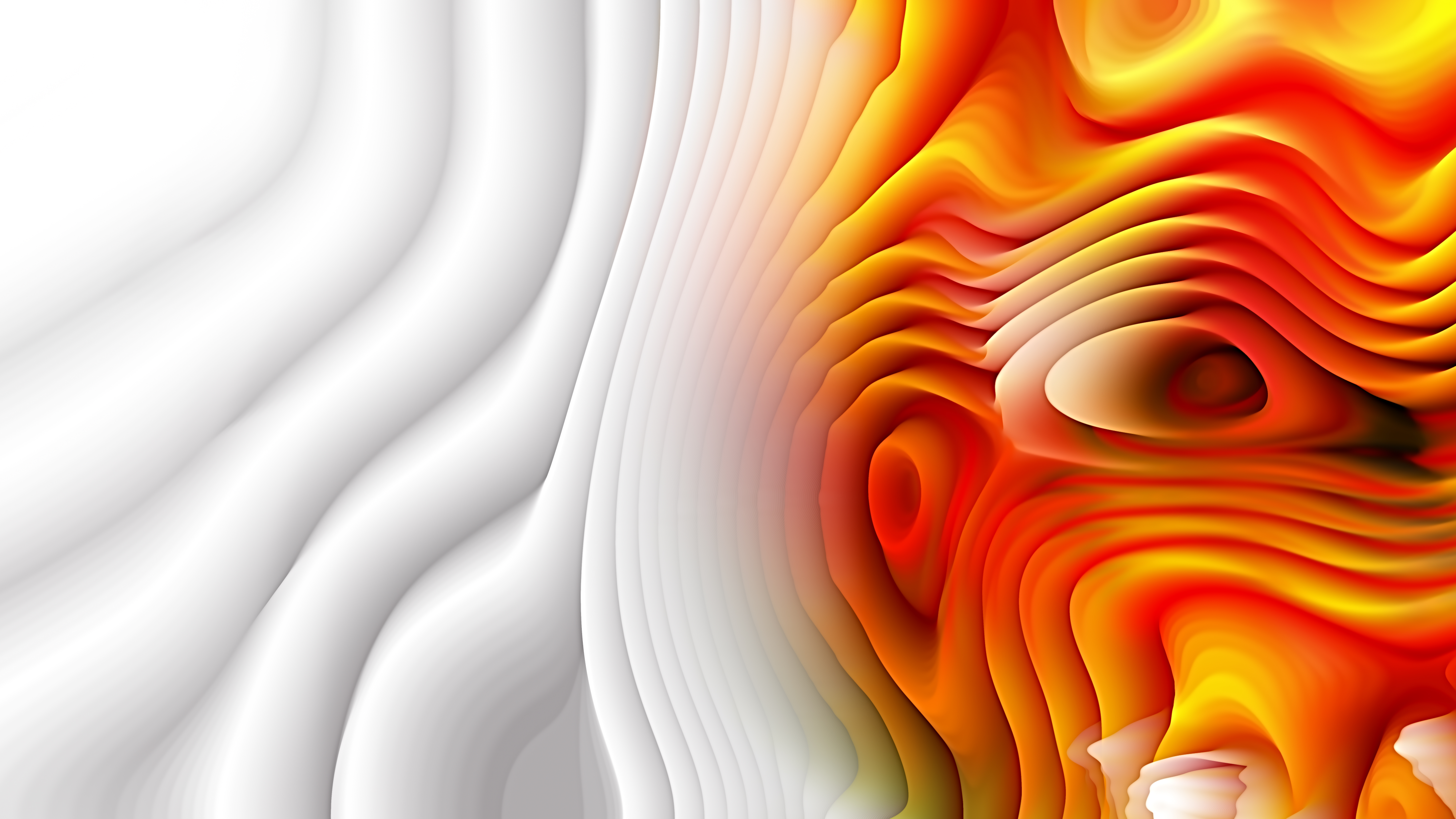Abstract Orange and White Curve Texture