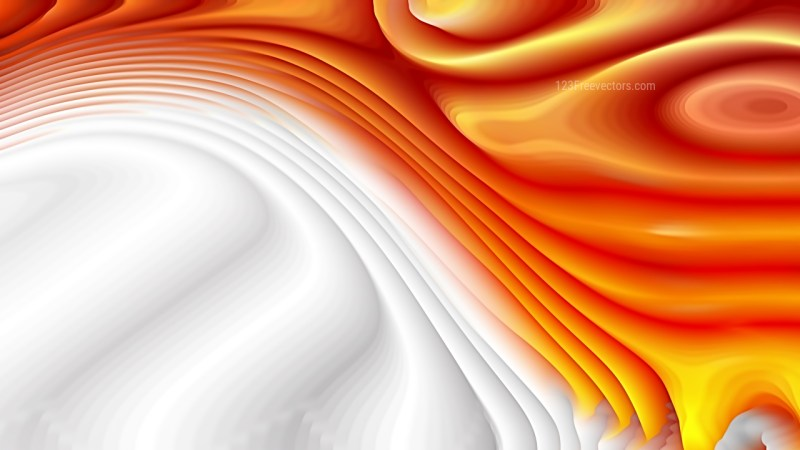 Orange and White Curve Texture Image