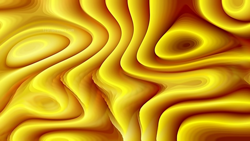 Abstract 3d Orange and Yellow Curved Lines Background