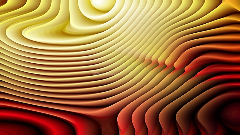 Abstract Red and Gold Curvature Ripple Background Image