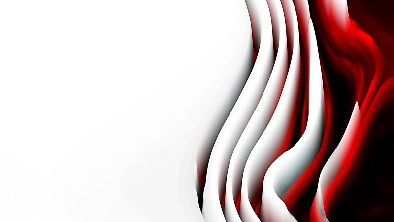 Abstract Red Black and White Curved Background Texture
