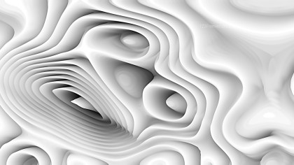 White 3d Abstract Curved Lines Background