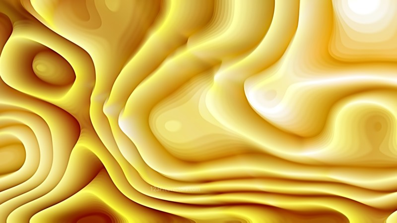 White and Gold Curvature Ripple Background